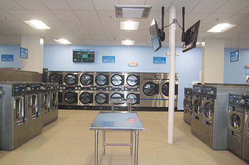 High speed washers and dryers