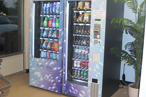 Convenient vending machines