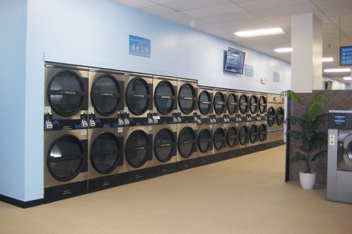 Wall of dryers